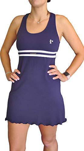 Lenna Levann Vestido Padel Color Azul. Short Interior Blanco ...