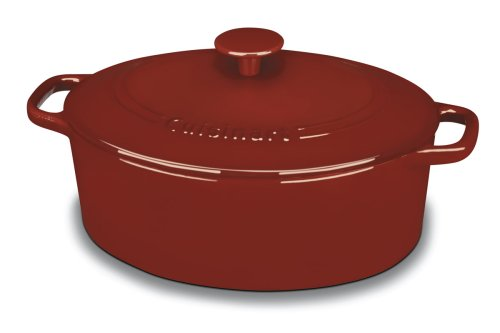 Cuisinart CI755-30CR Chef's Classic Enameled Cast Iron 5.5QT Oval Deal (Large Image)