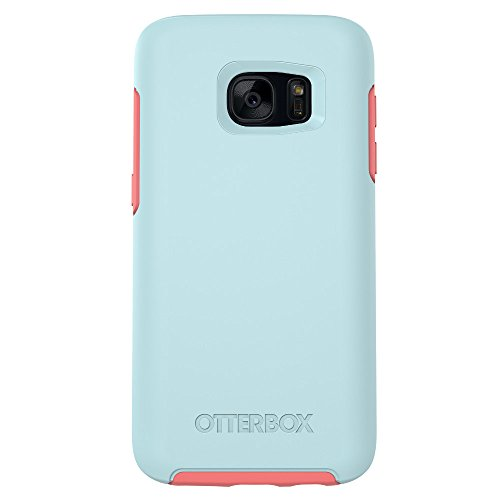 (OtterBox SYMMETRY SERIES Case for Samsung Galaxy S7 - Retail Packaging - BOARDWALK (BAHAMA BLUE/CANDY PINK))