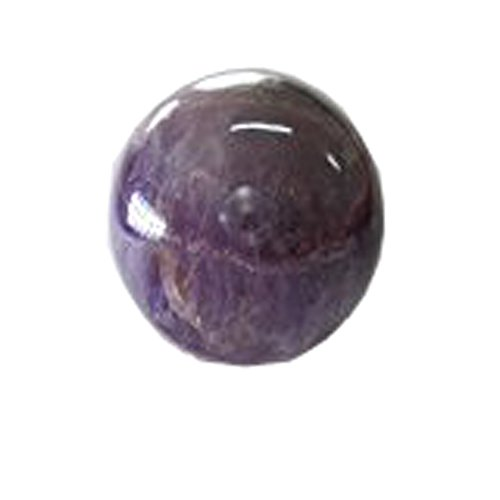 - Wholesale GemShop - 40 mm Amethyst Sphere (Ball) Natural Crystal Gemstone Polished Mineral Quartz Ball - India - 97 gm.