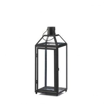 Sunrise Wholesale Merchandise Home Locomotion Midtown Black Medium  Decorative Candle Lantern