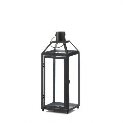 Sunrise Wholesale Merchandise Home Locomotion Midtown Black Medium Decorative Candle Lantern -