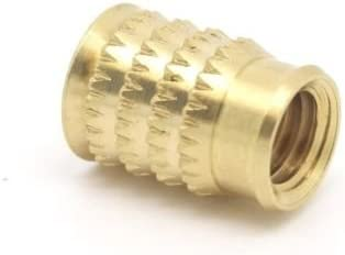 Pack of 10 x M6 x 7.7mm Threaded Brass Inserts for Plastic