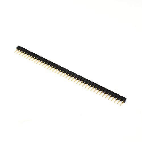 Break Away Single Row Round Headers Machine Pin Female 2.54mm 40 Pins Gold Plated(pack of 10)