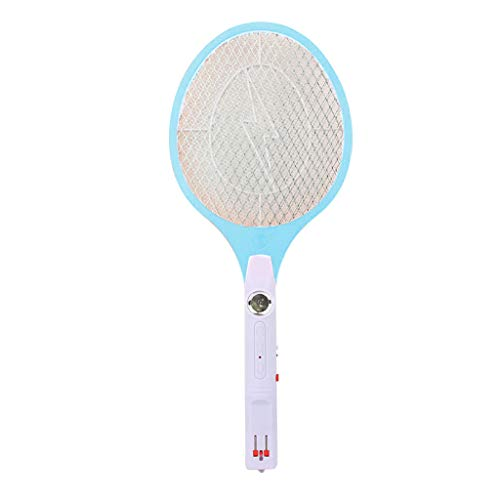 Hot Sale!UMFun Mosquito Killer Electric Tennis Bat Handheld Racket Insect Fly Bug Wasp Swatter (Sky Blue) -