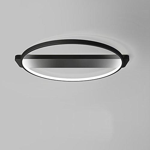 LightInTheBox LED Ceiling Light Flush Mount Bedroom, Living Room Lighting Fixture Painting Finish Lamp Voltage=100-240V, Warm White Light Source,Black Color