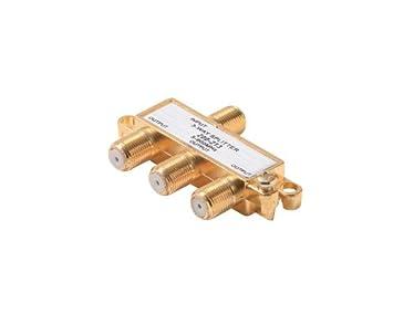Steren 200-213 Divisor de señal para cable coaxial Oro cable divisor y combinador -