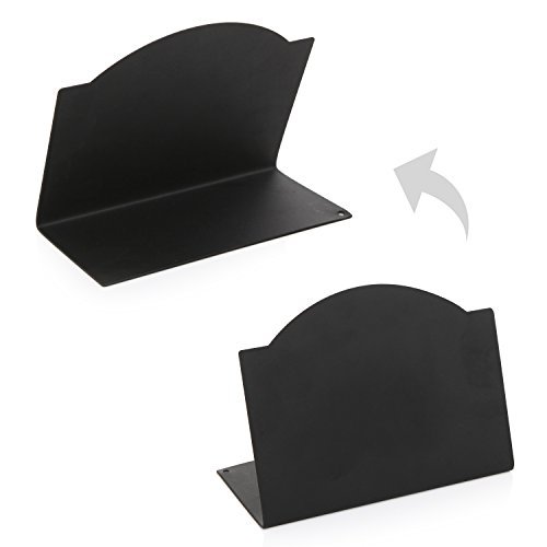 Freestanding Black Metal Erasable Chalkboard Place Card Signs, Small Memo Boards, (Set of 4) by MyGift (Image #2)'