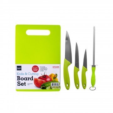 Cutting Board Set Plus Kitchen Knives - Includes Cutlery Chef