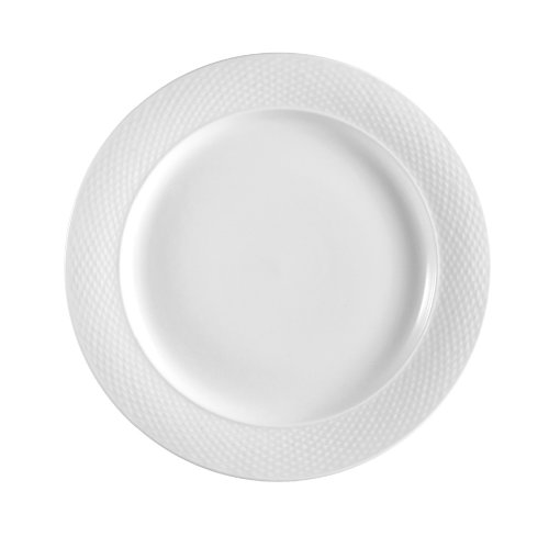 CAC China BST-21 Boston 12-Inch Super White Porcelain Plate, Box of 12 by CAC China