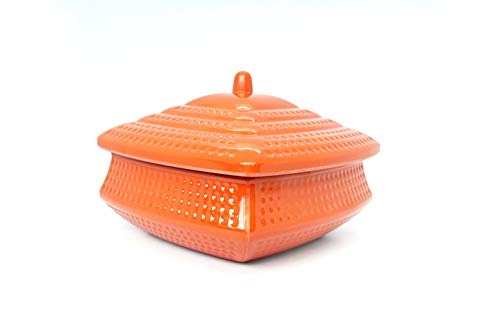 Curry Rice Dishes - Dinewell DWH3095 Melamine Square Medium Handi with Lid