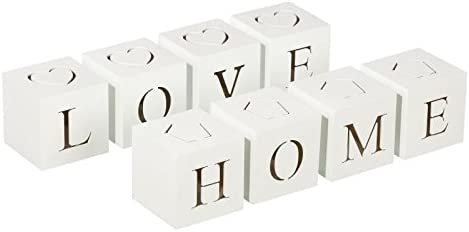 S/4 caja con luz de led blanco 2/m mdf 8 x 8 x 32 cm (LOVE): Amazon.es: Hogar