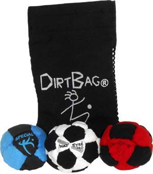 Dirtbag Pro's Footbag Hacky Sack 3 Pack with Pouch by Dirtbag