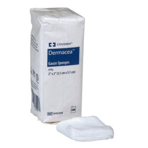 Covidien 441219 Dermacea Gauze Sponges, 12-Ply, 3