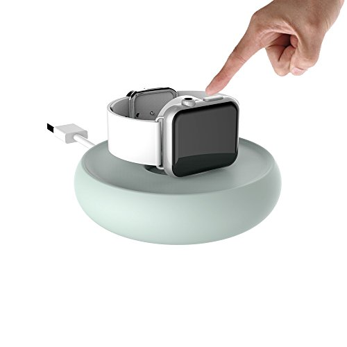 Price comparison product image New Apple Watch Series 3 Magnetic Charging Dock Stand by Bright Stone, Charging Stand Holder for All iWatch and iWatch2,  Scratch-Free Silicone (Green)