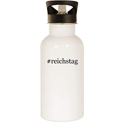 #reichstag - Stainless Steel Hashtag 20oz Road Ready Water Bottle, White