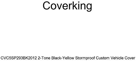 Coverking CVC5SP293BK2012 2-Tone Black-Yellow Stormproof Custom Vehicle Cover