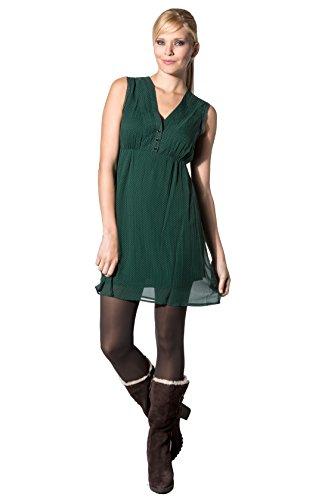 KOOKAI Damen Kleid Seide Dress Unifarben, Größe: Onesize, Farbe: Grün