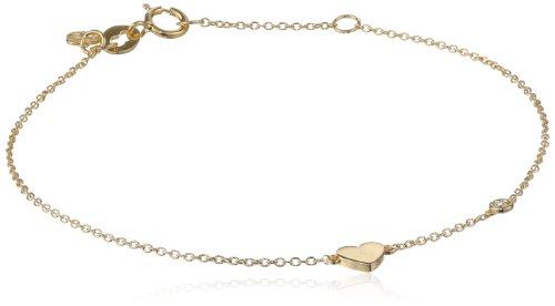 Shy by SE Heart Bracelet with Diamond Bezel
