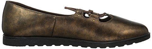 Easy Street Womens Effie Flat Bronze Metallic Wash