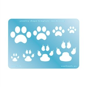 Cool Tools - Jewelry Shape Template - Paw Prints from Cool Tools