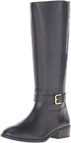 Lauren Ralph Lauren Women's Makenzie-BO-CSL Boot, Black, 7.5 B US (Ralph Leather Lauren Womens)