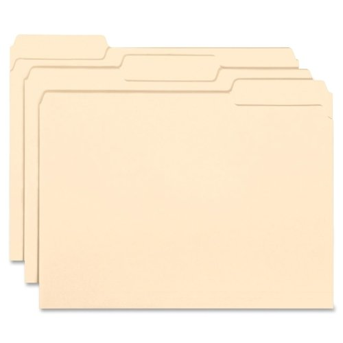 Wholesale CASE of 10 - Smead 1/3 Cut Tab Interior Folders-Interior Folders, 1/3 Ast. Tabs, Letter, 100/BX, Manila ()