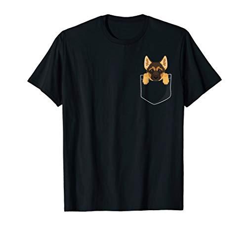 Cute Shepherds German (Pocket German Shepherd Puppy! Cute Dog Lover T-Shirt)