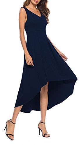 Sarin Mathews Womens V Neck High Low Hem Club Cocktail Party Dress Sleeveless Casual Long Maxi Dresses