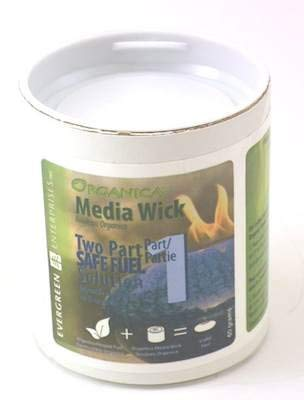 Evergreen Enterprises - ORGANICA MEDIA WICK For BIOFIRE FUEL - For Firepots & Fireplaces - Safe Liquid Fuel 5G005