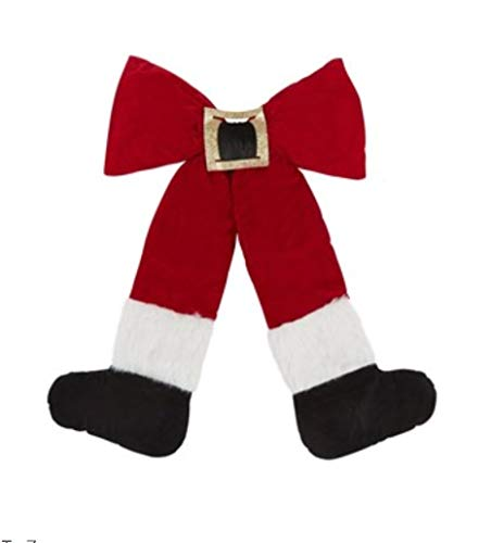 IOM Santa Belt and Boots Large Decorative Welcome Bow 27