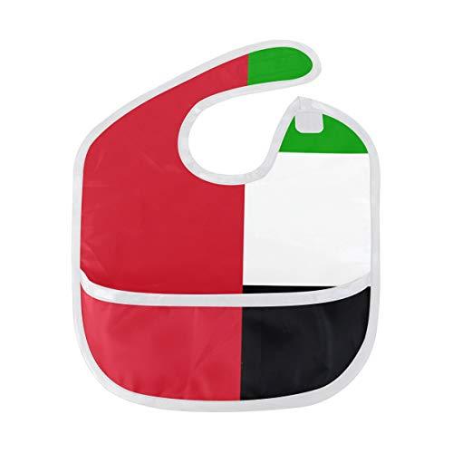 (United Arab Emirates Flag Toddler Baby Waterproof Bib)