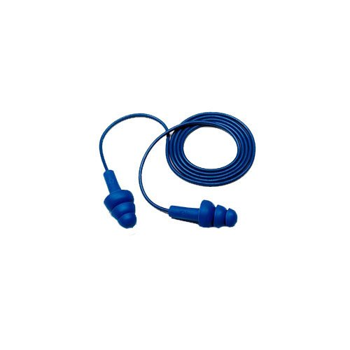 Elastomeric Polymer Blue 12 Height 9.25 Length 6.25 Width 3M E-A-R UltraFit 40048 E-A-R UltraFit Metal Detectable Corded Earplugs 340-4017 in Econopack Dispenser Box One Size Containing 200 Corded pairs 6.25 Width 12 Height 9.25 Length