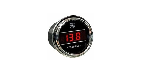 Black Inside Outside Auto Thermometer Gauge dual display for Kenworth 2005 or previous Bezel Blue LED Color
