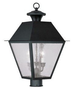 Livex Lighting 2169-04 Mansfield 3-Light Outdoor Post Head, Black