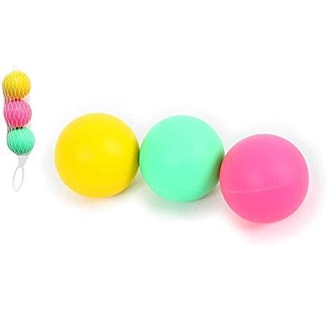 3 pelotas para raqueta de playa color rosa, amarillo, verde, juegos al aire libre: Amazon.es: Hogar