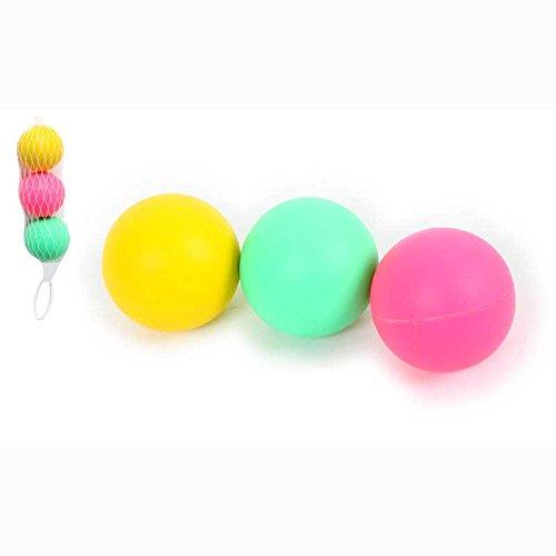 3 pelotas para raqueta de playa color rosa, amarillo, verde ...
