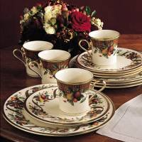 Cheap Lenox Holiday Tartan 12-Piece Dinnerware Set, Service for 4