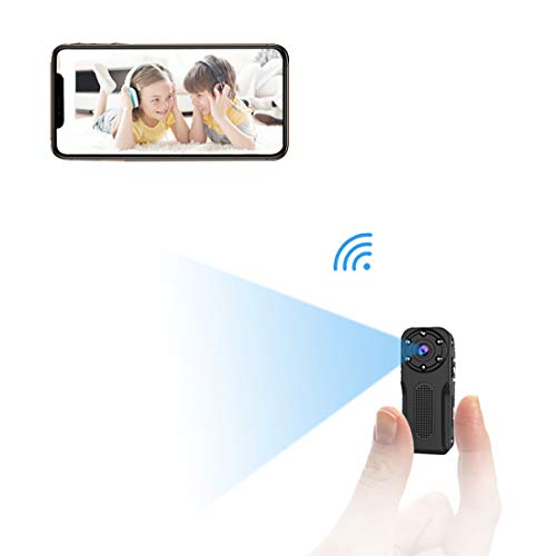 WiFi Waterproof Mini Hidden?Camera, NIYPS HD 1080P Covert Security Video Camera, Wireless?Nanny Cam with Night Vision and Motion Detection, Portable Small Surveillance Camera for Indoor/Outdoor