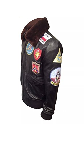 Tom Cruise TOP Gun PETE Mavericks Bomber (M, Real Leather) (M, Synthetic) ()
