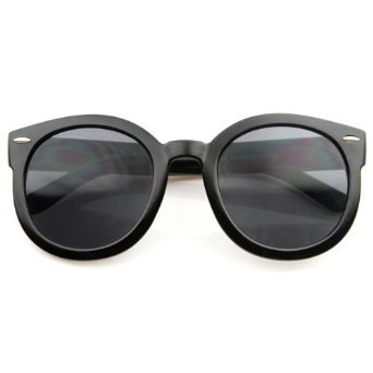 Oversized Round Sunglasses Bold Thick Frame Dark Lens Mens Womens Retro Fashion (Bold Round, - Sunglasses Porter