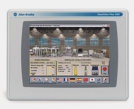 Allen bradley panelview plus 1000 touch display module: 2711p-rdt10c.