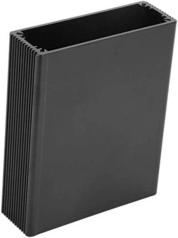 ZT-TTHG スプリットボディアルミニウムプロジェクトボックス、ブラックアルミプリント回路基板のインストゥルメントボックスエンクロージャ電子プロジェクト事例