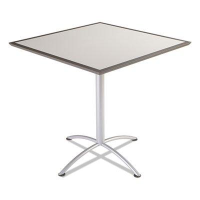 UPC 640947636513, ILand Table, Dura Edge, Square Bistro Style, 42w x 42d x 42h, Gray/Silver, Sold as 1 Each