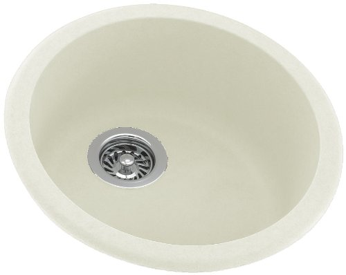 Swanstone KS00018RB.018 Solid Surface Dual Mount Single-Bowl Kitchen Sink, 18.5-in L X 18.5-in H X 8.5-in H, Bisque
