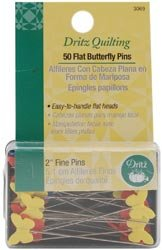 Dritz Bulk Buy Quilting Flat Butterfly Pins 2 inch 50 Pack 3069 (3-Pack) by Dritz