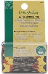 Bulk Buy: Dritz Quilting Flat Butterfly Pins 2'' 50/Pkg 3069 (3-Pack) by Dritz