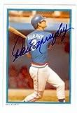 Autograph Warehouse 69155 Dale Murphy Autographed Baseball Card Atlanta Braves 1985 All Star Set No. 1