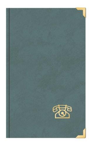 Telefonbuch Adressbuch ca. DIN A5 mit Messingecken grau Toppoint