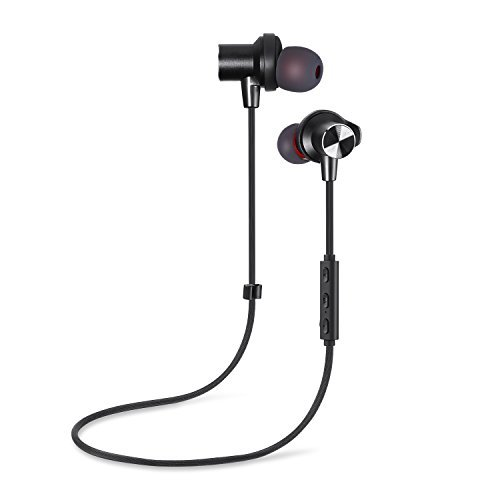 Bluetooth Headphones Heiner Wireless Earbuds with Mic Sport Stereo Headset Noise Cancelling Neckband Sweatproof Earphones.Bluetooth earphones with Mic Wireless - Compatible with Leading Smartphones